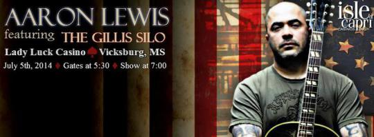 Aaron Lewis ft The Gillis Silo - July 5, 2014 - Vicksburg, MS